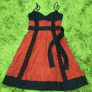 George Evening Midi Dress Size 10 100% Silk & Lace